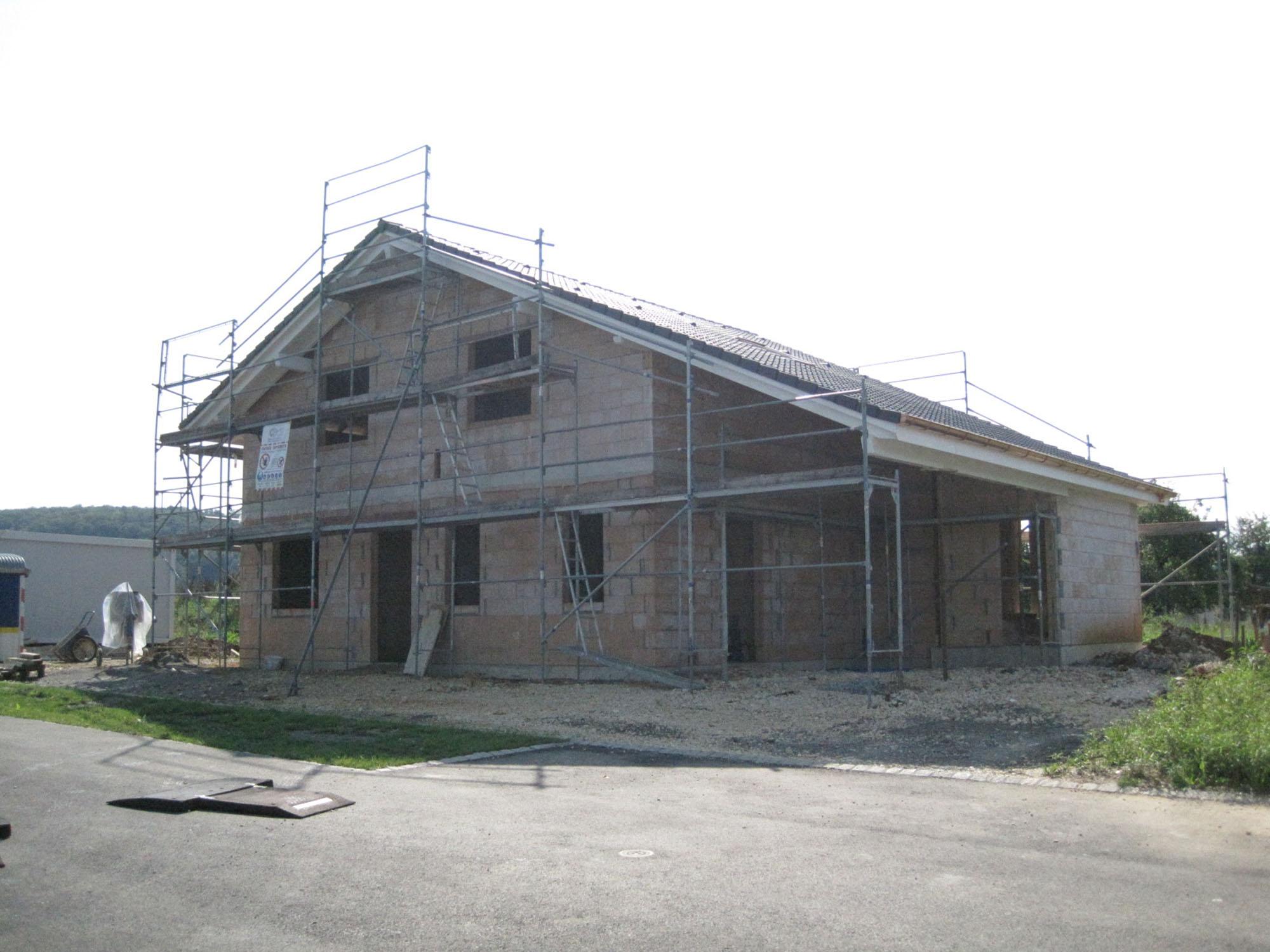 Maison familiale en constructon