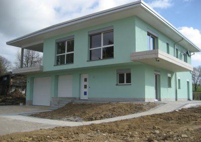 maison façade verte