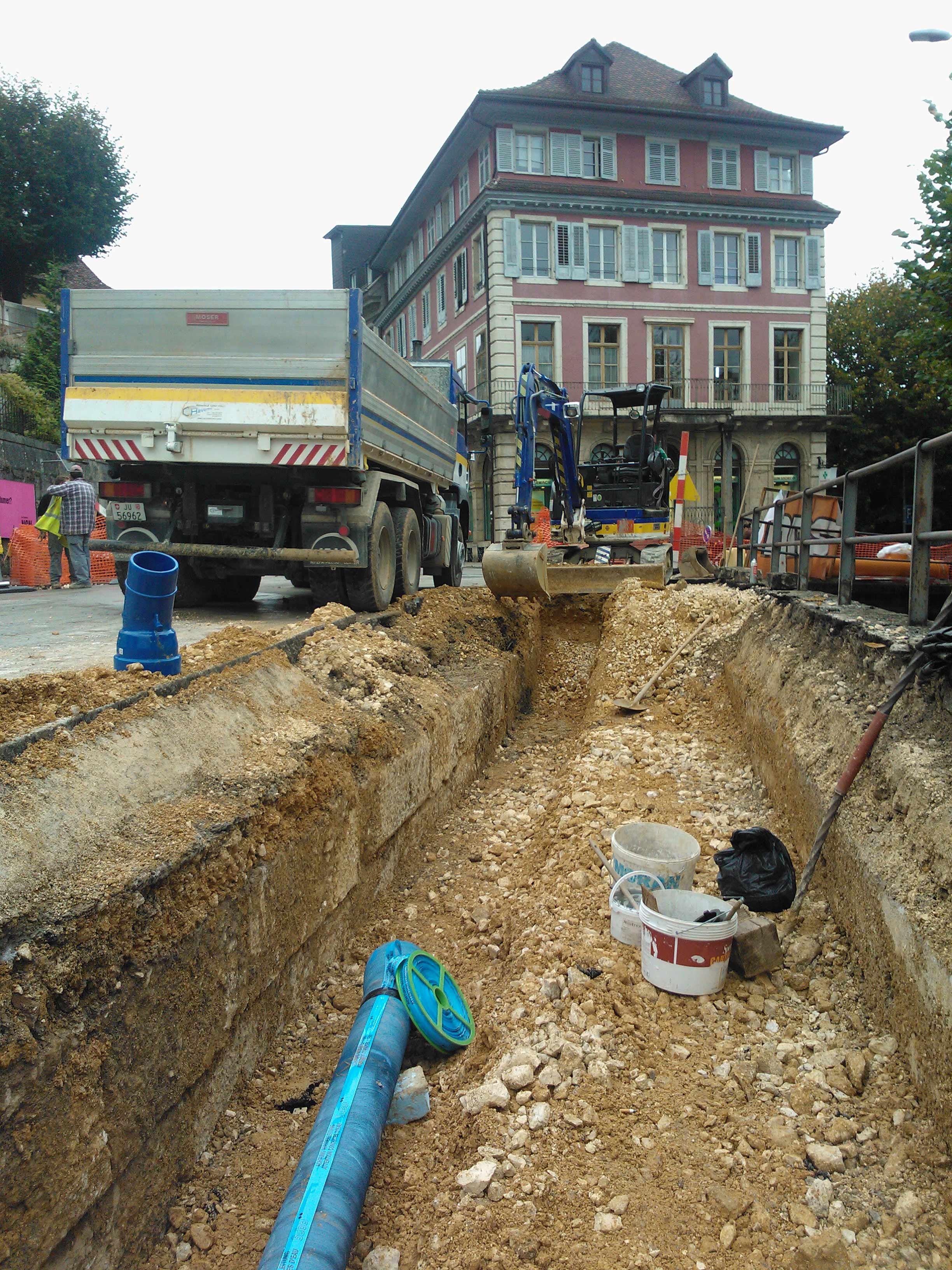 Viabilitations creusage de fouille avec camion