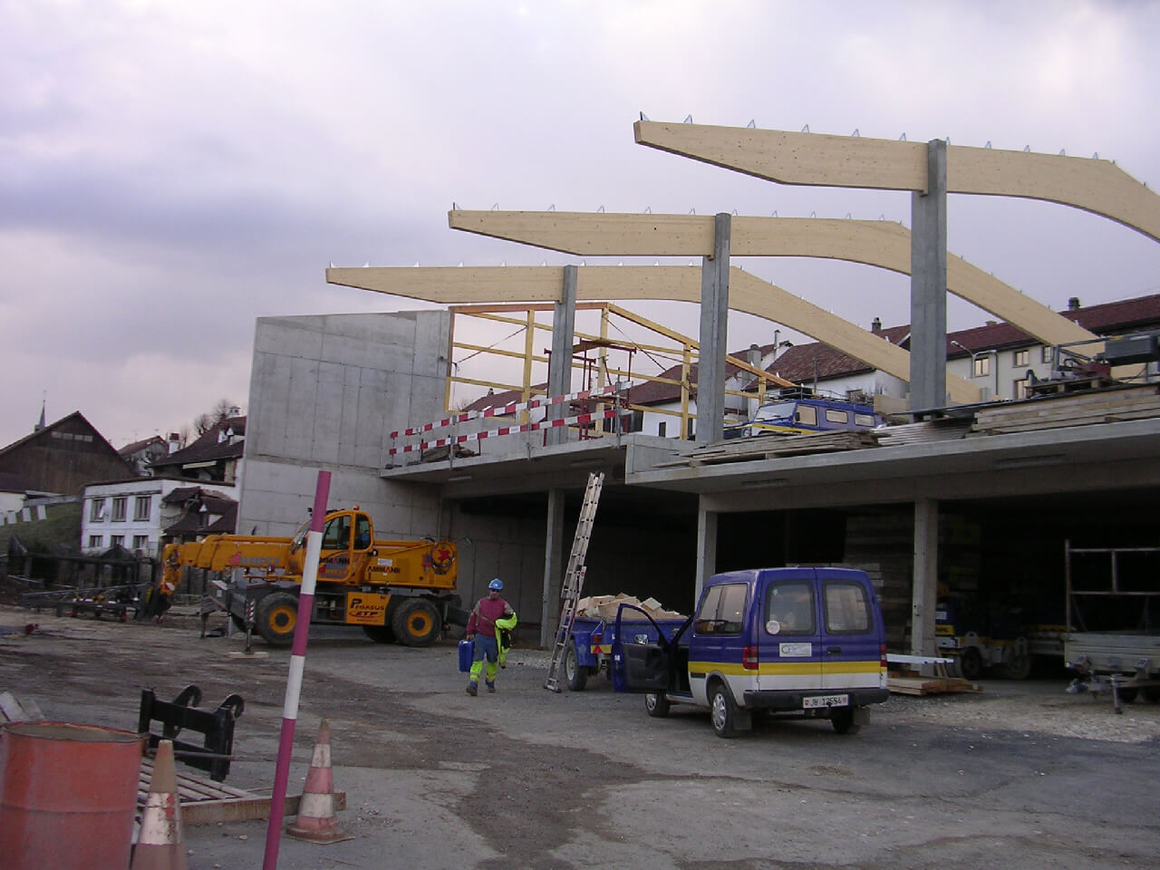Charpente de hangar