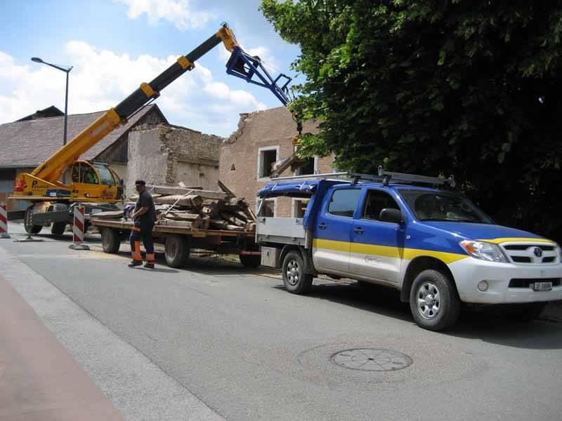 Démolition de bâtiment en toute sécurité à Chevenez